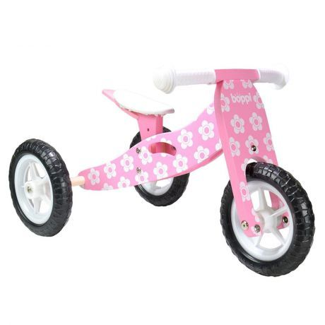 boppi® 2 in 1 Wooden Trike & Balance bike by bopster - Pink