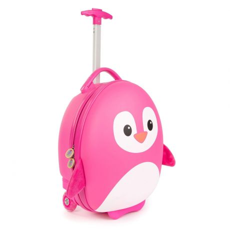 boppi Luggage Case Penguin Pink Side on Half Handle