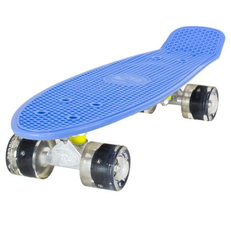 Land Surfer Cruiser Blue Skateboard Black LED Wheels