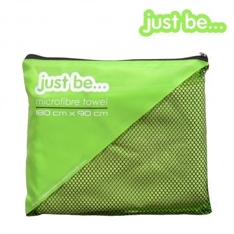 just be... Microfibre Towel Large Green 180cm x 90cm