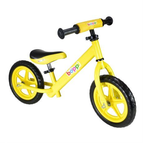 boppi Yellow Metal Balance Bike bopster
