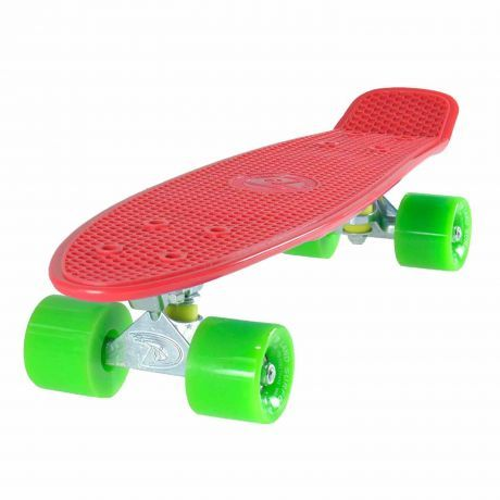 Land Surfer Cruiser Red Skateboard Red Green Wheels