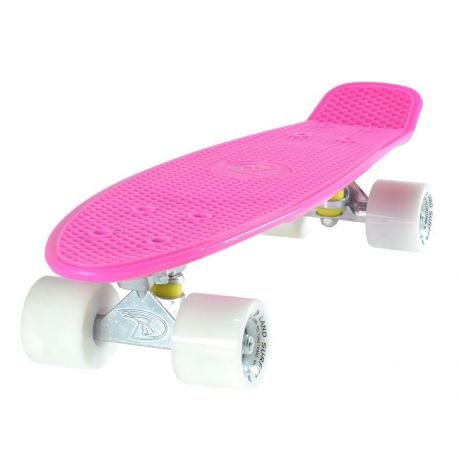 Land Surfer Cruiser Pink Skateboard White Wheels