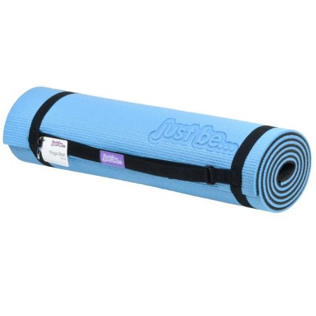 just be Blue and Black Non Slip Yoga Mat