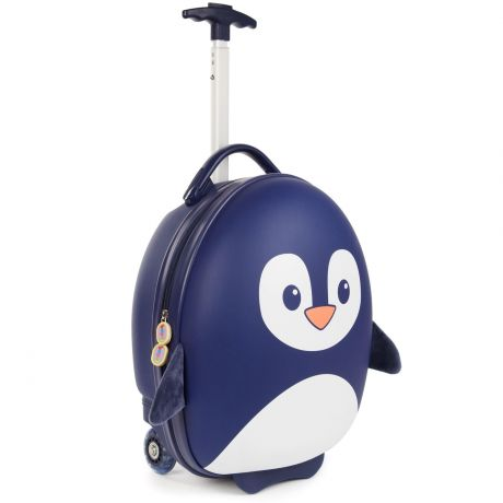 boppi Luggage Case Penguin Blue Side on Half Handle