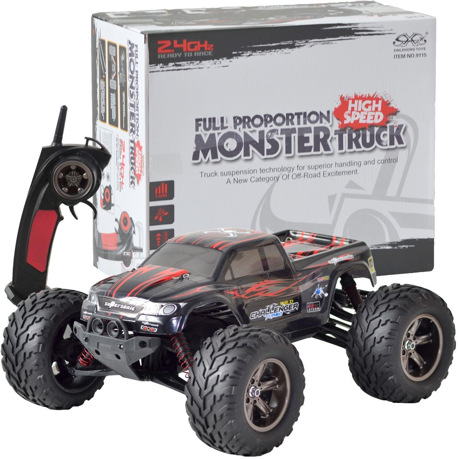 Remote Control Off Road Monster Truck Car - RED