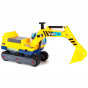 Yellow boppi ride on excavator digger with extended shovel arm boom for ages 12 months to 3 years