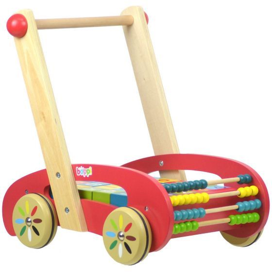 boppi Wooden Baby Walker with Alphabet Blocks