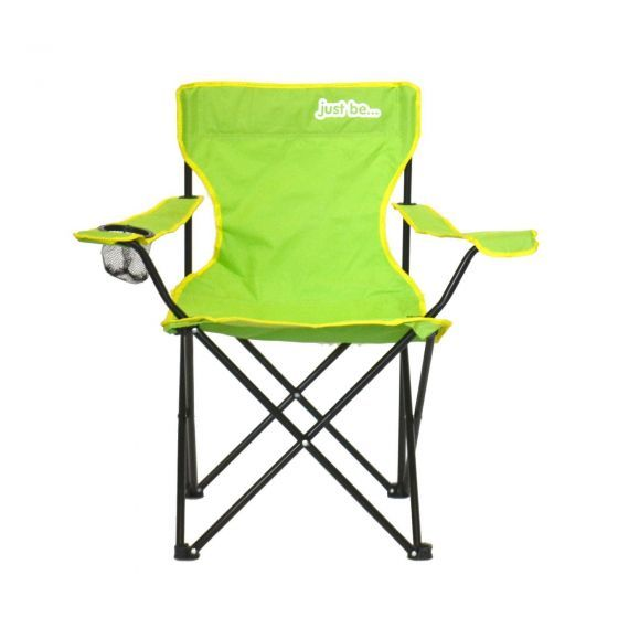 just be Light Green Foldable Camping Chair