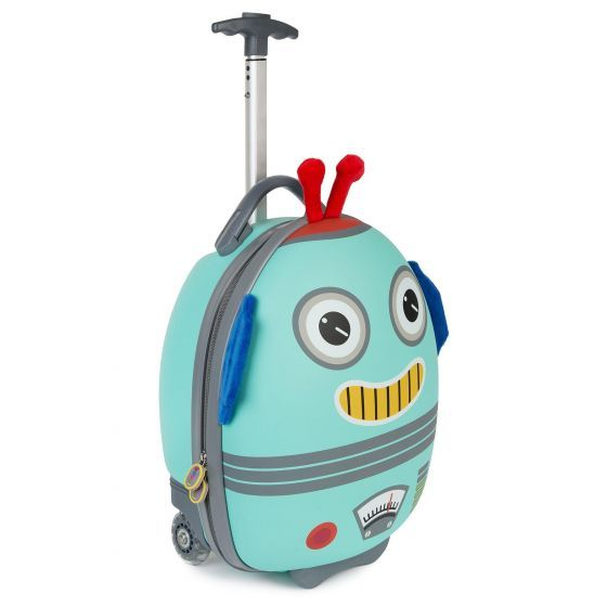 boppi Tiny Trekker Luggage Case Robot Blue