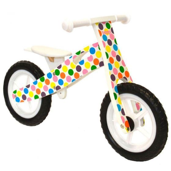 boppi® Wooden Balance Training Bike - Spots bopster