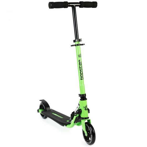 Bopster 2 Wheeled Scooter Folding V2 In Line Racing Kick Sport Ride-On Green