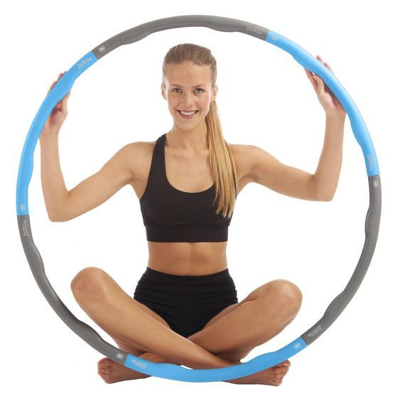 just be Weighted Fitness Hoop 1.5kg Blue and Grey Full
