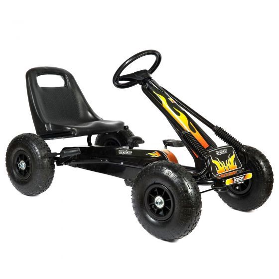 pedal-go-kart-with-inflatable-wheels-in-black-with-flame-design
