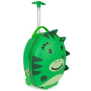 boppi Tiny Trekker Luggage Case Dinosaur Green