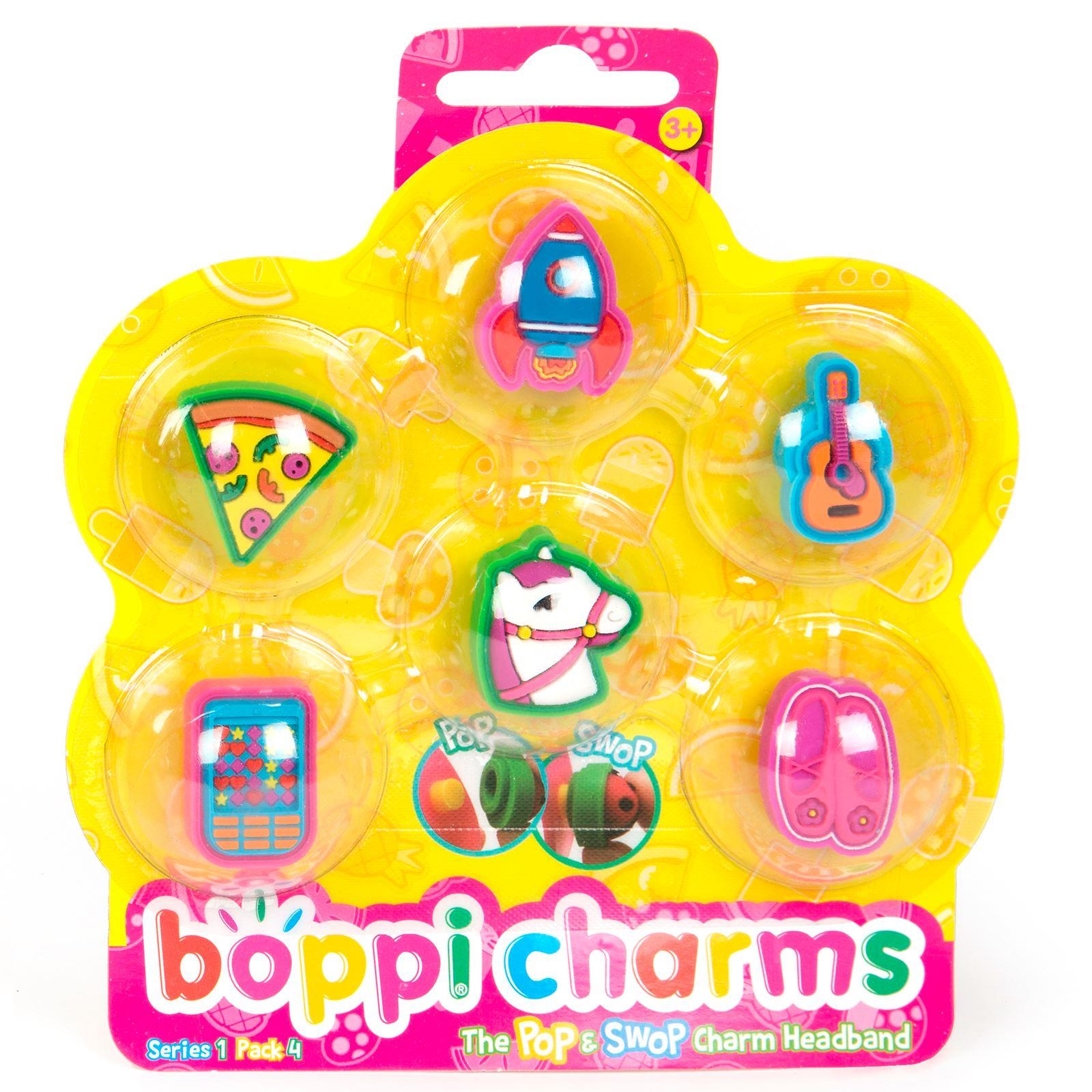 boppiband boppi Charms Pack Series 1 Pack 4 - 6 Charms Packaged