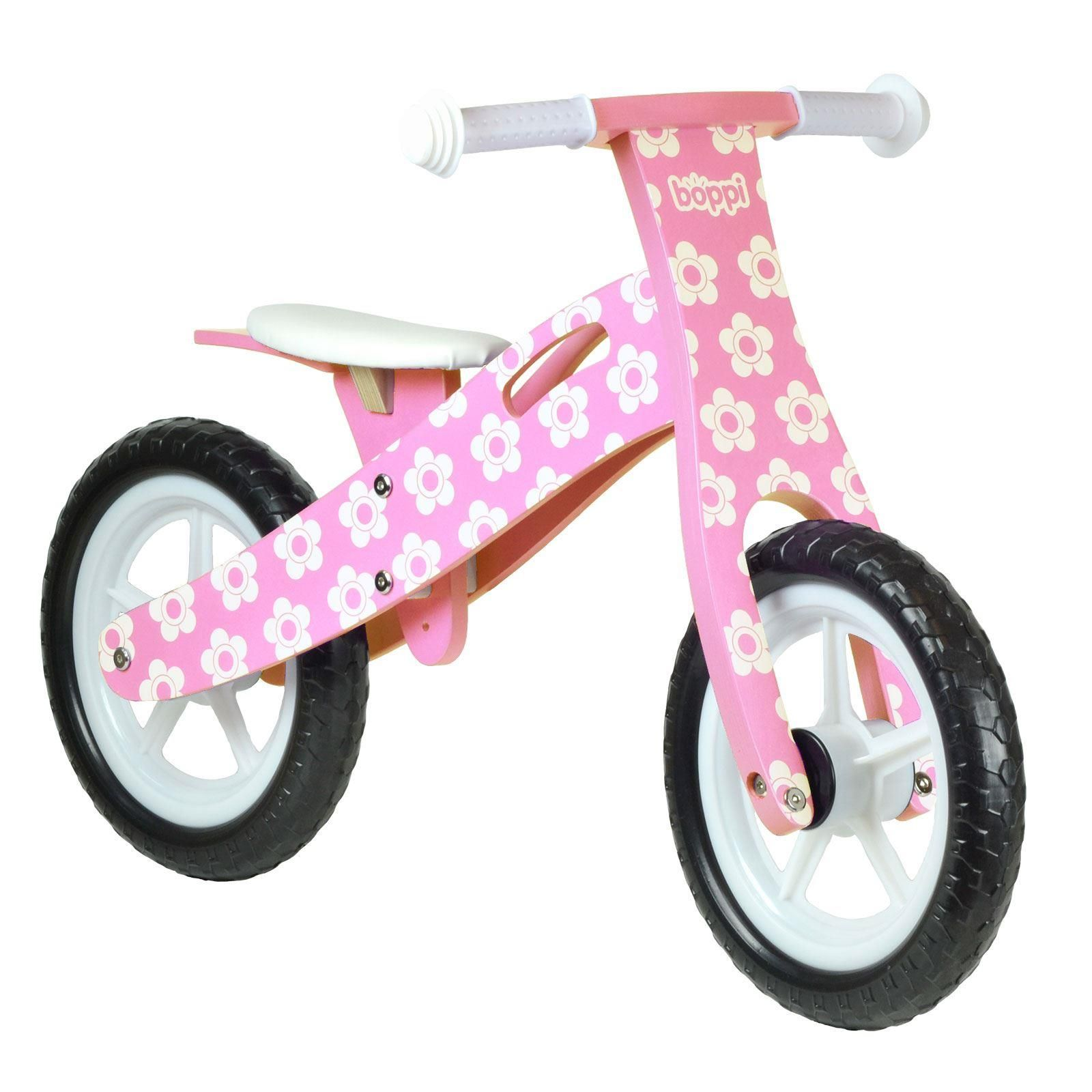 boppi Pink Flower Kids Wooden Balance Bike by bopster