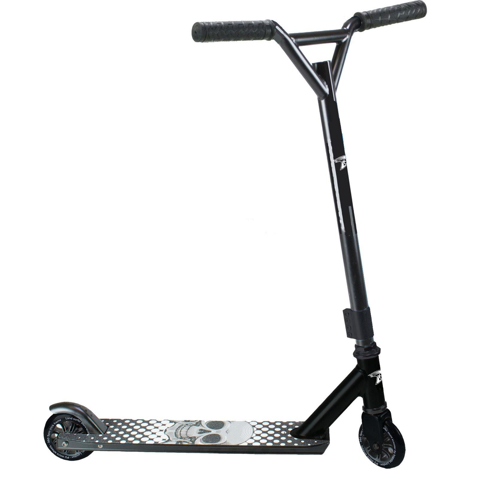 Land Surfer® Stunt Scooter - Black Skull
