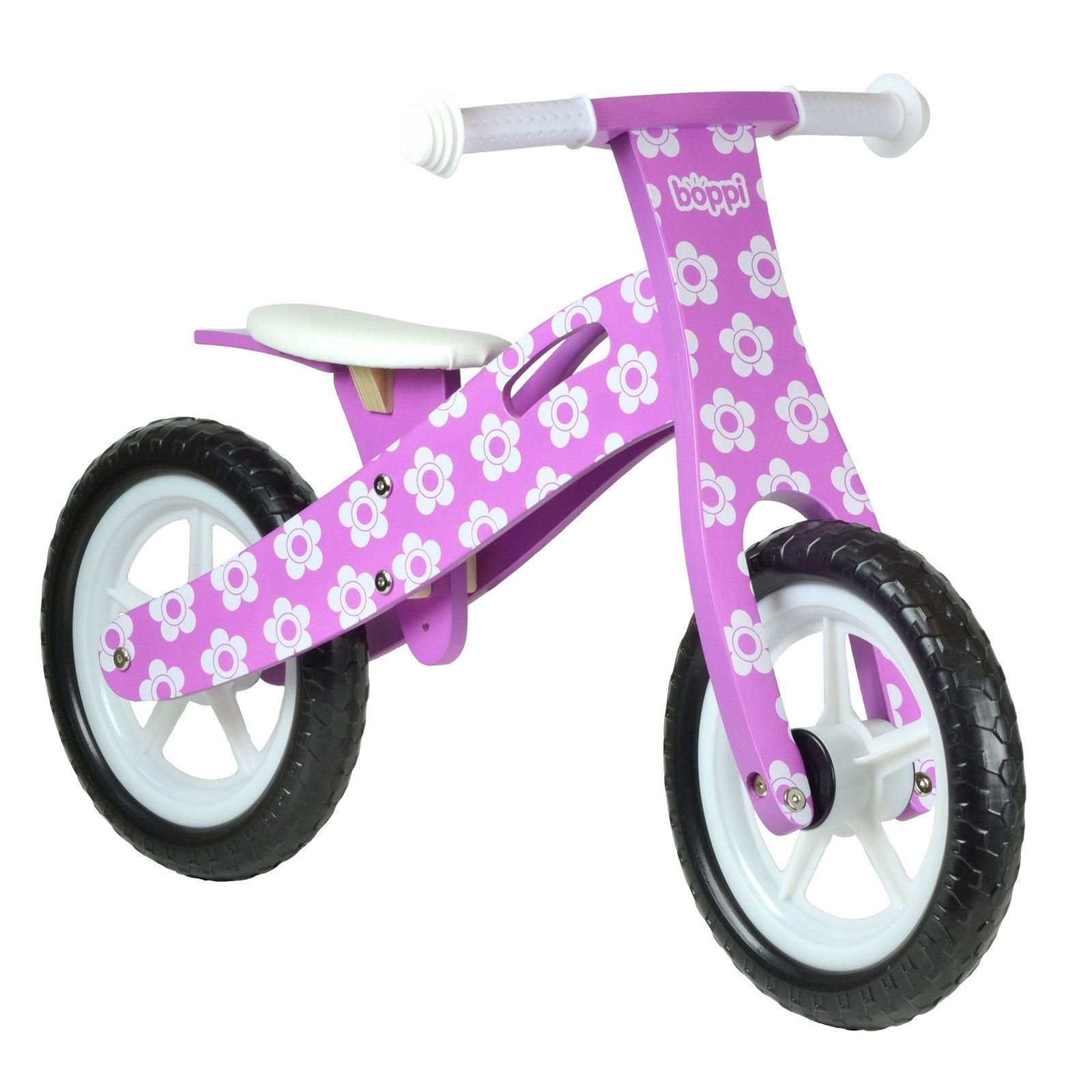 boppi® Wooden Balance Training Bike - Purple Flower bopster
