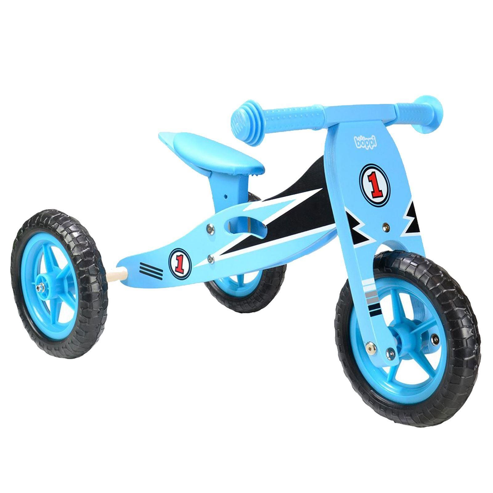 boppi® 2 in 1 Wooden Trike & Balance bike by bopster - Blue