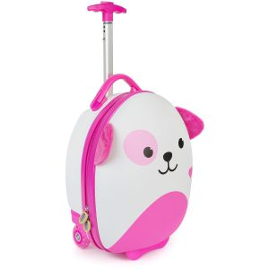 boppi Tiny Trekker Luggage Case Pink Dog