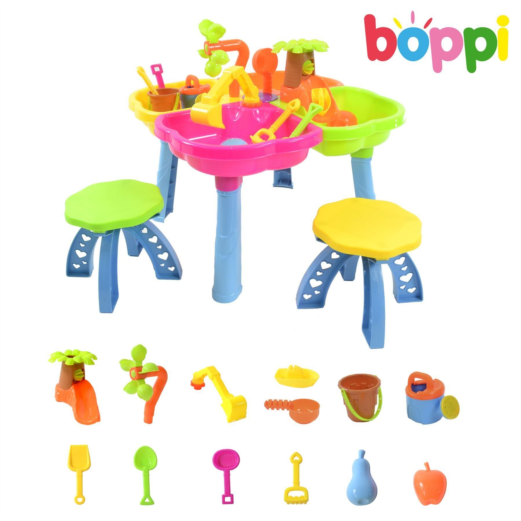 boppi 4 Section Sand and Water Table with Accessories