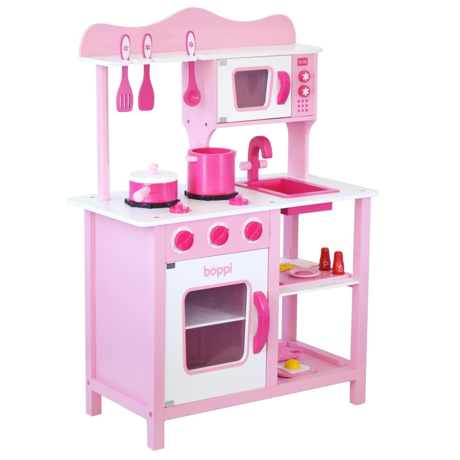 boppi Wooden Toy Kitchen Full Length