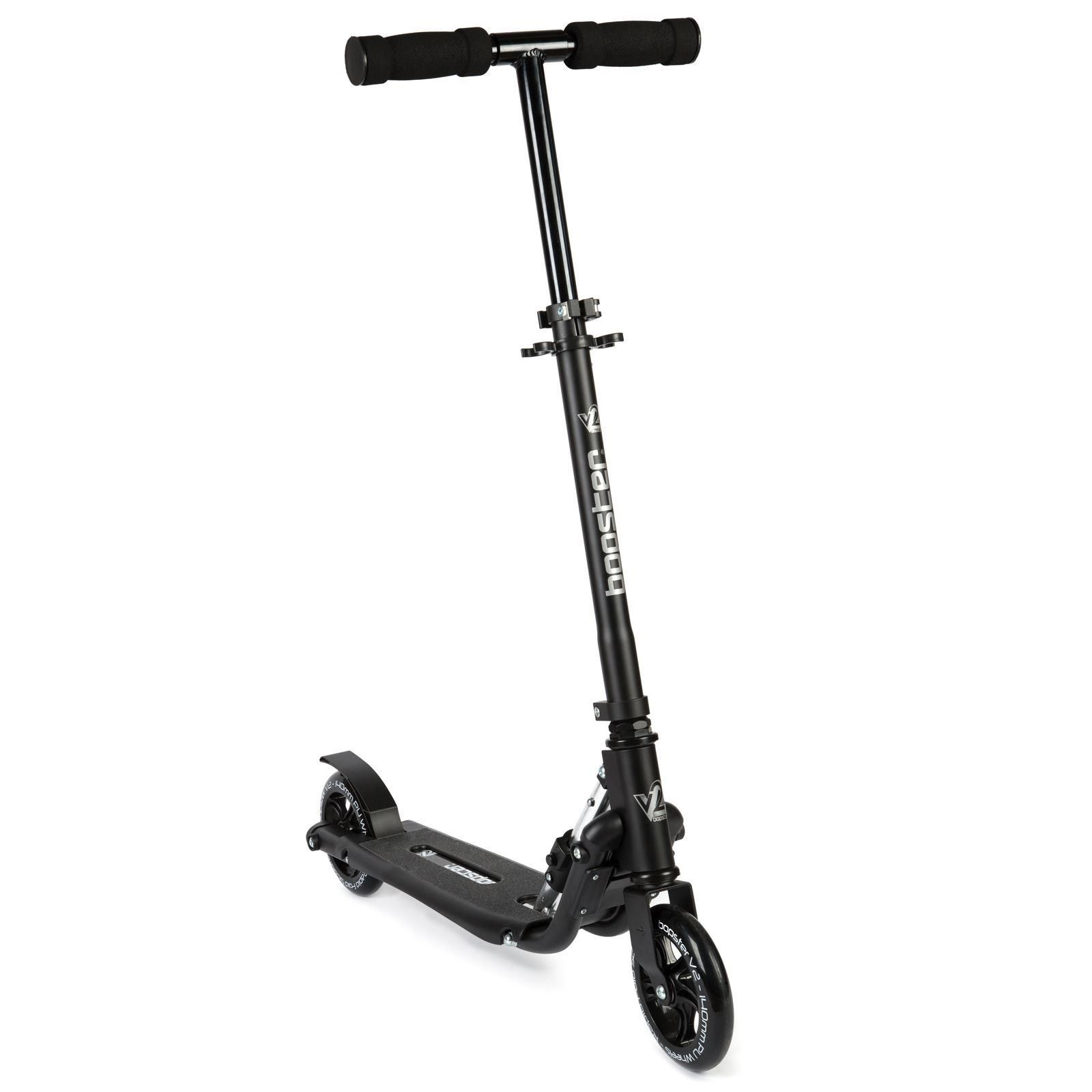 Bopster 2 Wheeled Scooter Folding V2 In Line Racing Kick Sport Ride-On - Black