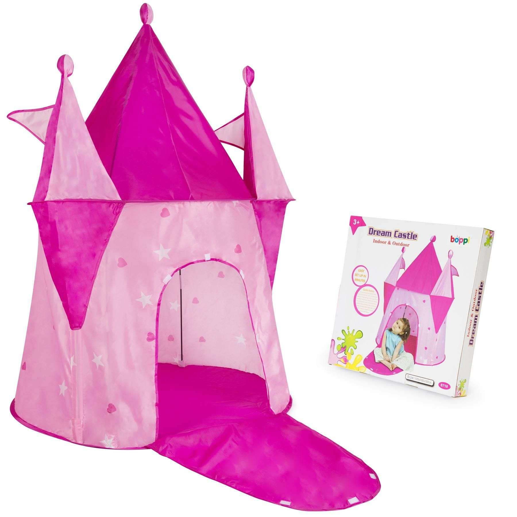 boppi Dream Castle Pink Pop Up Play Tent by bopster